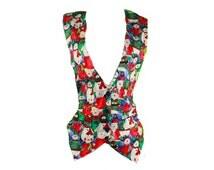 Vintage // Snowman Vest // Christmas Vest // Holiday Vest  // Snowmen Vest // Ugly Christmas Vest // Snowman Shirt / Small // JLN