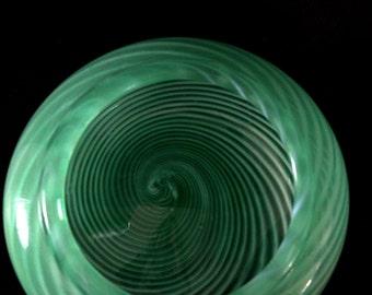 Green spiral bowl