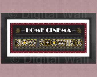 Home Theater Decor Etsy - home cinema decor