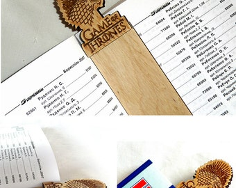 Wooden Bookmark Game of Thrones bookmark Wood Bookmark Game of Thrones Gift Ideas Valentines gifts