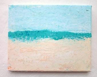 Abstract Beach Painting Original Acrylics Artwork