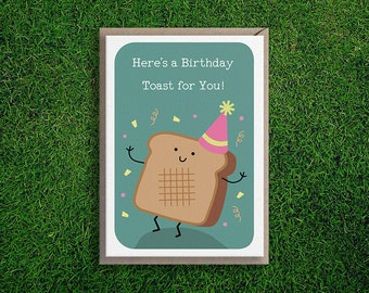 Greeting Cards | Happy Birthday, Toast, Party, Cute & Quirky, Funny, Silly Food Pun Card