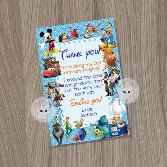 Disney Invitation Disney Boy Invitation Disney Characters
