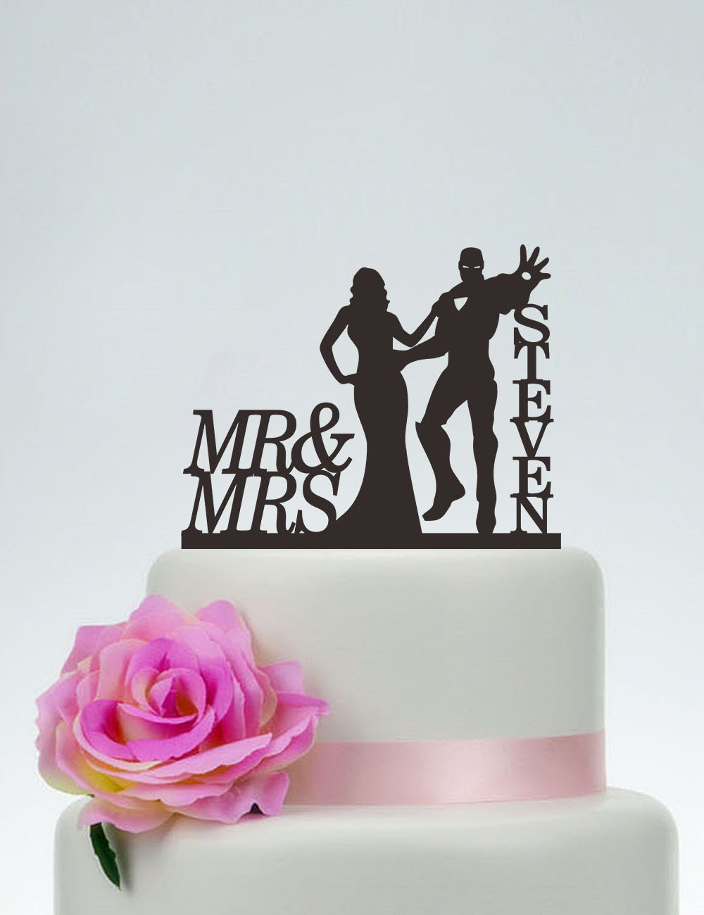 Iron Man Cake Topper Wedding Cake Toppermr And Mrs Cake