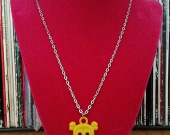 Yellow Skull Necklace