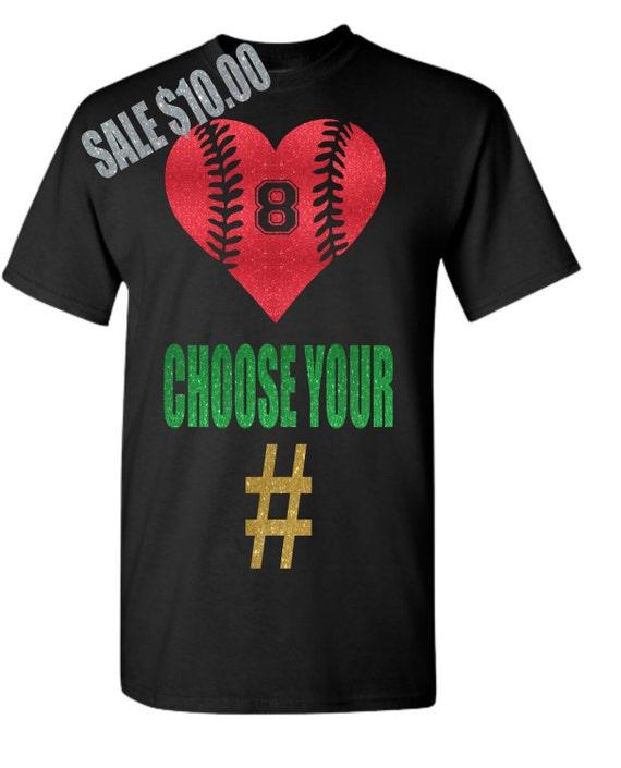 Baseball Mom Shirt Glitter Baseball Custom By