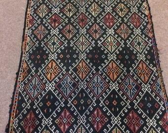 Vintage Turkish  Cicim Kilim Rug / yastık /  2'11'' x 1'10'' ft  /  0.89 x 0.55 mt