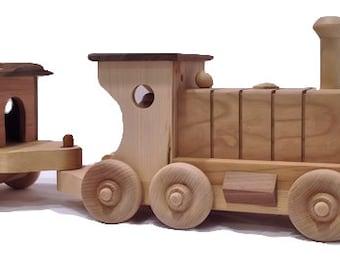 Maple & Cherry Hardwood Train Set