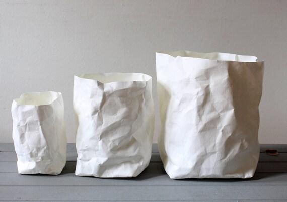 wei e papiert te waschbar papier t pfe k rbe beh lter. Black Bedroom Furniture Sets. Home Design Ideas