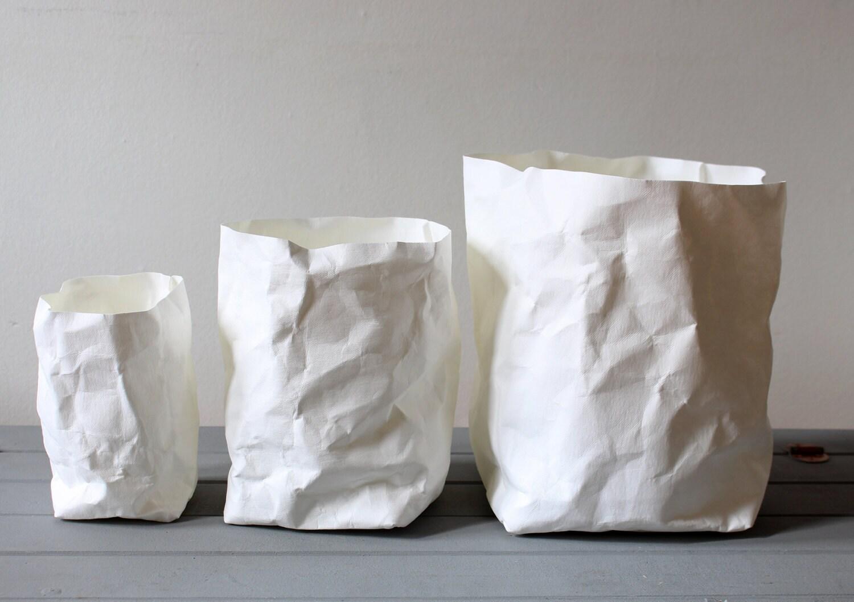 Sale White Paper Bag Washable Paper Pots Baskets Bins