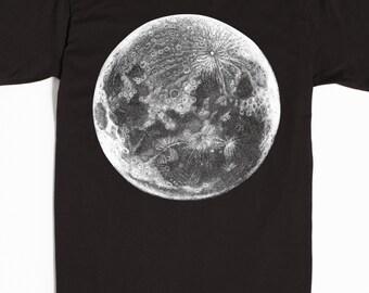 Men's Moon Shirt - Men's T-shirt - Astronomy Tshirt - graphic tee
