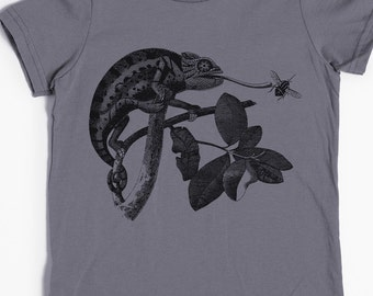 Children's Animal Shirt - Chameleon Shirt - Chameleon Tshirt - Children's Shirt - Graphic T-shirt