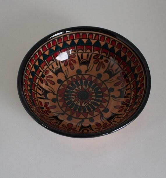 Hititte Design Hand Made Ceramic Bowl , Serving Bowl, Decorative Traditional Bowl, Pottery Soup Bowl , Dip Bowl, Hand Painted Bowl, Boho Art