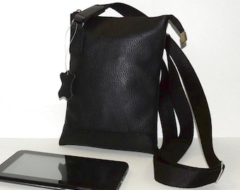 "Black leather bag ""Atos"""
