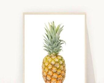 Tropical Print, Pineapple Print,  Printable Art, Pineapple Photo, Tropical Decor, Pineapple Wall Art, Instant Download