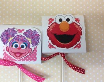 Sesame Street, Elmo, Abby, Ernie, Bert, Cookie Monster, Oscar Party Lollipop Favors