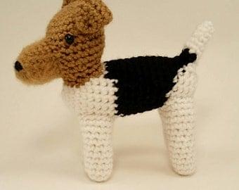Wire Fox Terrier - Crocheted Dog