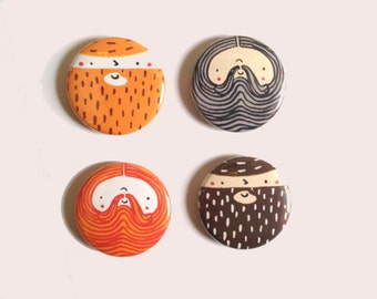 Beardy Boys - Badge Set
