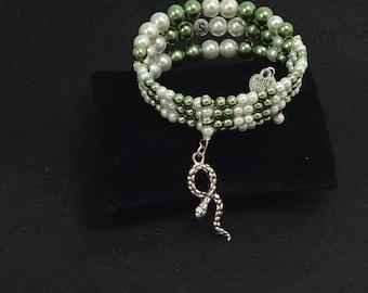 Slytherin Memory Wire Bracelet