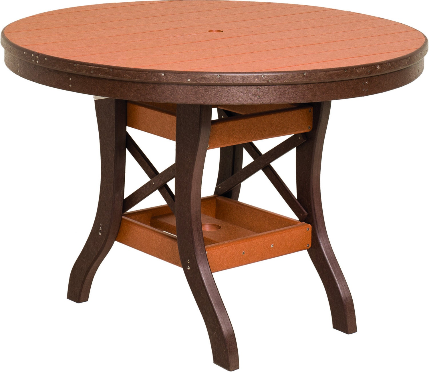 Recycled poly lumber round diningtable 36 44 48 54 for 44 inch round dining table