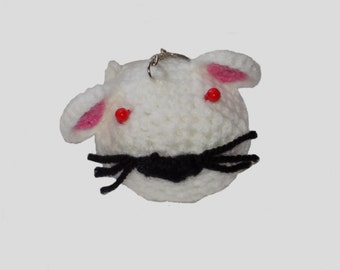 amigurumi , mouse , key chain , crochet mouse , mice , white