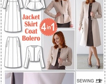 Sewing Patterns - Coat Patterns - Jacket Patterns - Bolero Pattern - Skirt Patterns - Blazer Pattern - Sewing Tutorials - Sewing E-book
