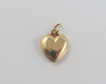 Small Heart 18K Gold Vintage Charm For Bracelet
