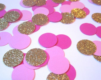 Pink and Gold Confetti | Pink Confetti | Gold Glitter Confetti | Pink and Gold Party | Pink and Gold First Birthday | Pink and Gold Shower