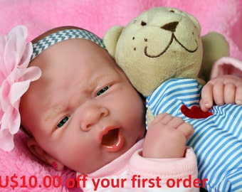 My Angel Baby Girl Berenguer Lifelike Newborn Reborn Pacifier Doll +Beautiful Extras Accessories