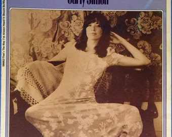 That's The Way I've Always Heard It Should Be Carly Simon Photo Cover, vintage sheet music 1970 guitar tablature, Charles Hansen 06682
