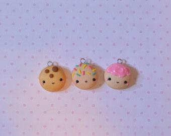 Kawaii Cookie, Polymer Clay Charm, Kawaii Charm, Food Charm, Cute Cookie, Polymer Clay Cookie, Cookie Charm, Cute Planner