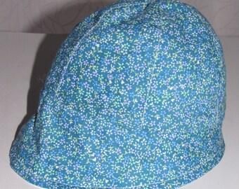 Reversible blue hat for girl