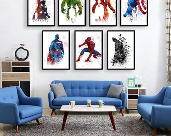 avengers wall art etsy. Black Bedroom Furniture Sets. Home Design Ideas