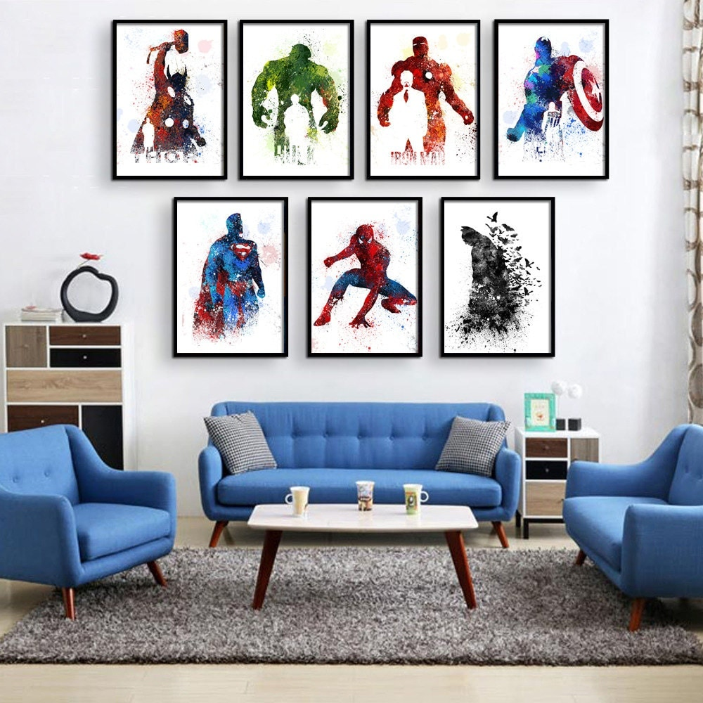 superhero decor super hero wall art superhero room decor