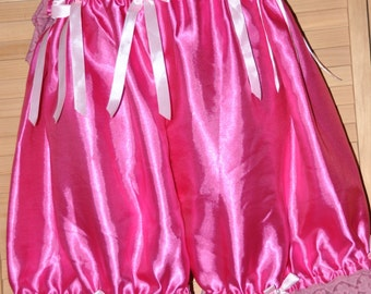 SALE -- Silky frilly bloomers, hot pink/cerise, lovely crossdressing lingerie - Sissy Lingerie