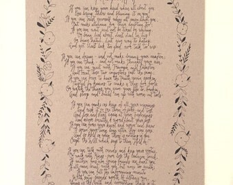 If by Rudyard Kipling poem