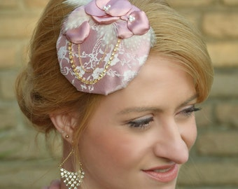 "Brautfascinator ""Color of Spring"" - Rosewood"