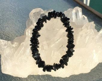 Black Obsidian Bracelet- Protection Amulet Stone Bracelet