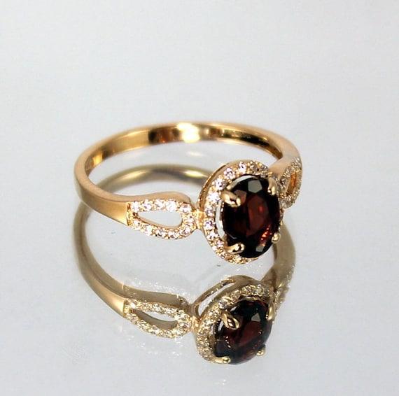 garnet ring 14k gold ring gemstone ring garnet by. Black Bedroom Furniture Sets. Home Design Ideas