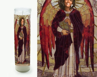 Whitney Houston Prayer Candle - Saint Candle - Great gift - Religious Style Candle - Fan Art