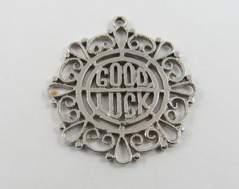 Good Luck Sterling Silver Charm or Pendant.