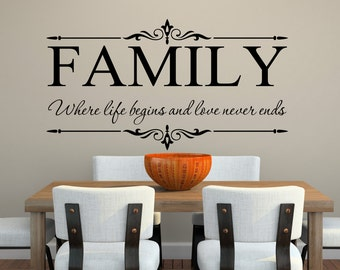 Charmant Family Wall Decal | Etsy