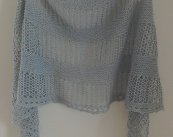Grey lace wrap/grey lace scarf/lace scarf/lace shawl/small shawl
