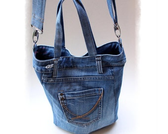 Sewing Denim Bag PATTERN, DIY Denim Bag, Make your own denim bag, Recycled Denim Bag, Upcycle Denim, Code: Kala, GAMMAstudio