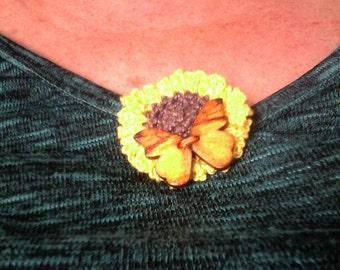 PIN flower of sunflower and Butterfly hook