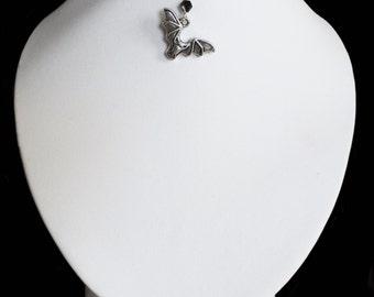 Tattoo-Choker with bat pendant and bead