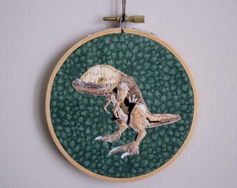 Guar Morrowind Inspired Embroidery Hoop Art