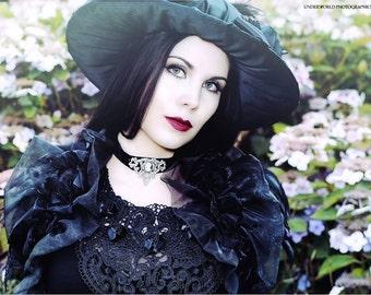 Victorian gothic aristocratic cameo choker-Historical jewelry-Victorian gothic choker-cameo choker-choker