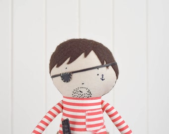 Pirate Doll with Peg Leg & Hook