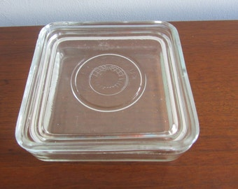ELECTROLUX Clear Glass Refrigerator Lidded Storage Box - Made in Sweden - 1950s
